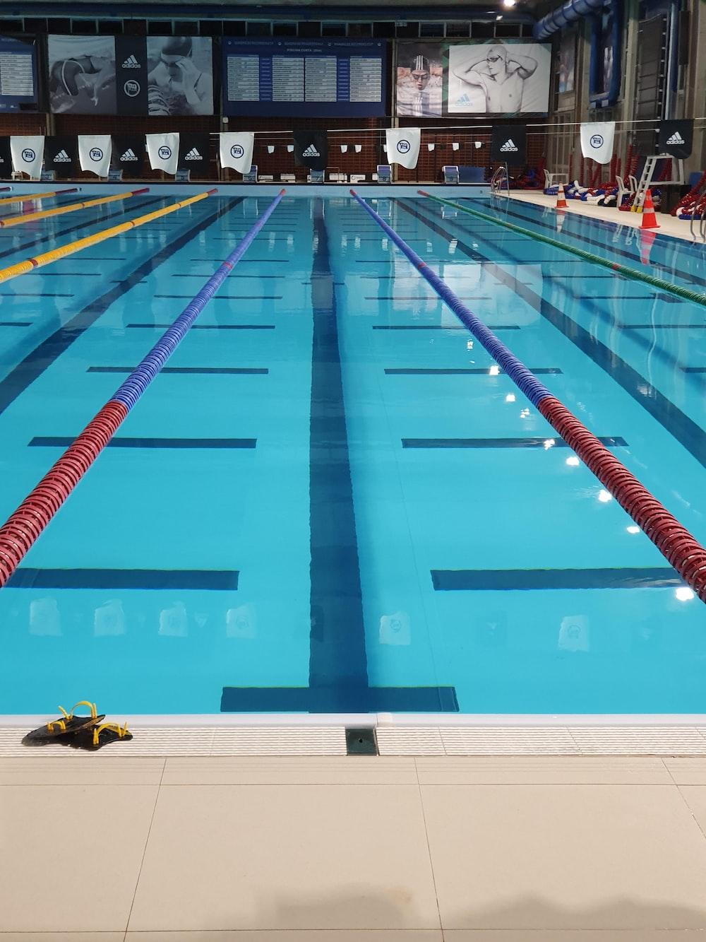 blue Olympic pool