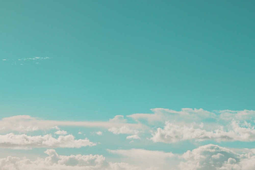 white clouds photograph