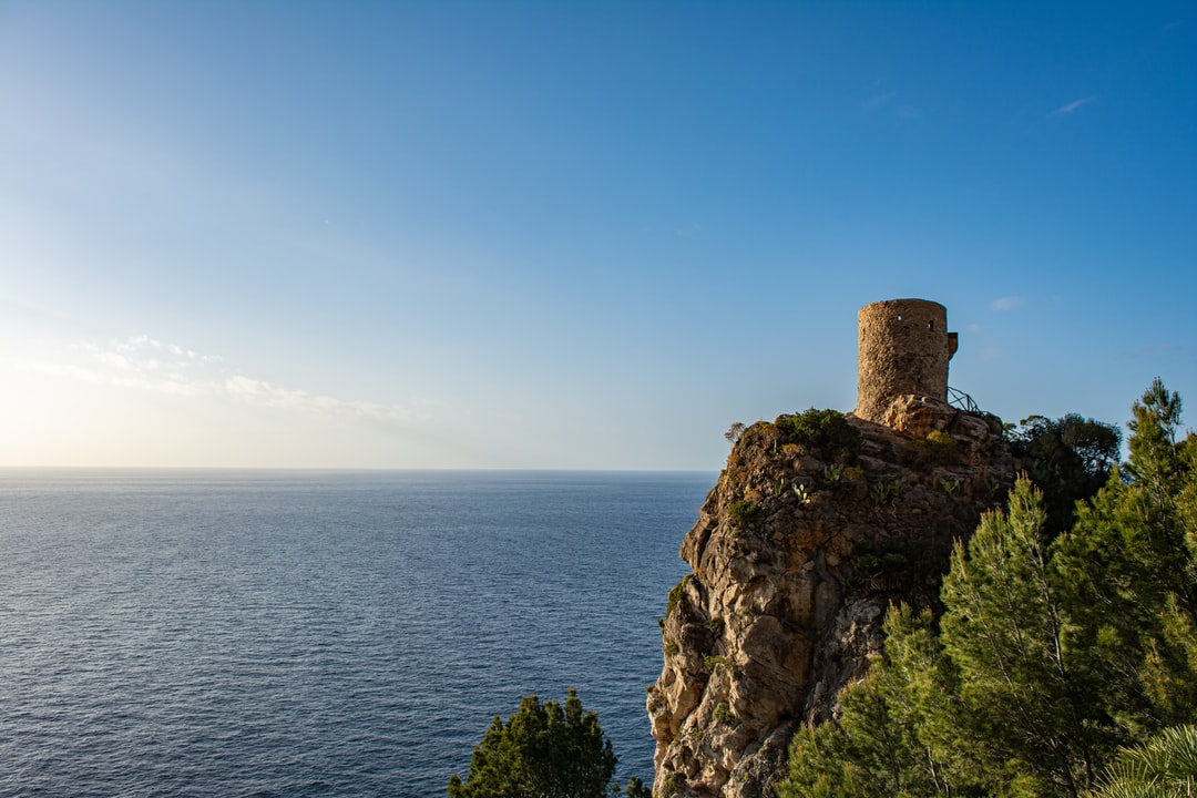 Old watchtower ruin on a cliff