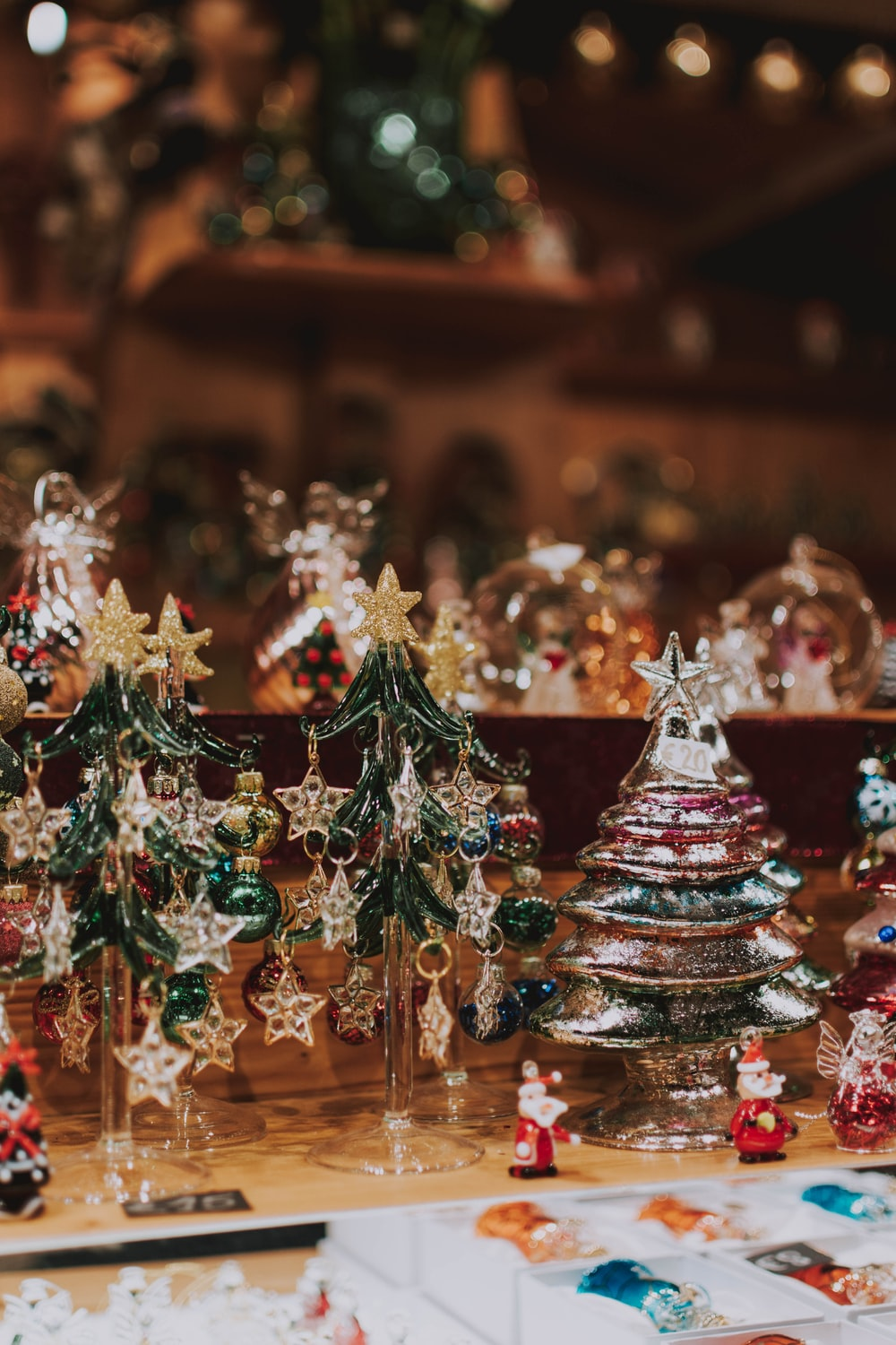 silver-colored Christmas decors