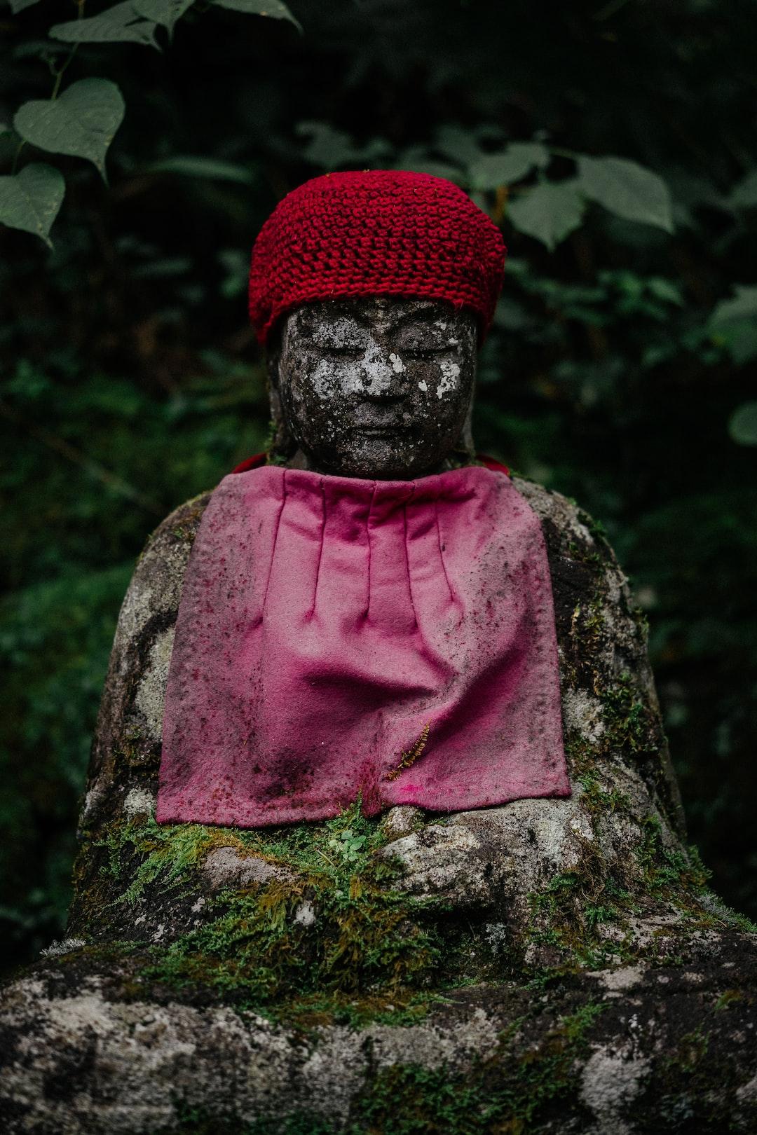 Mysterious status in the Kanmangafuchi Abyss, Nikko, Japan