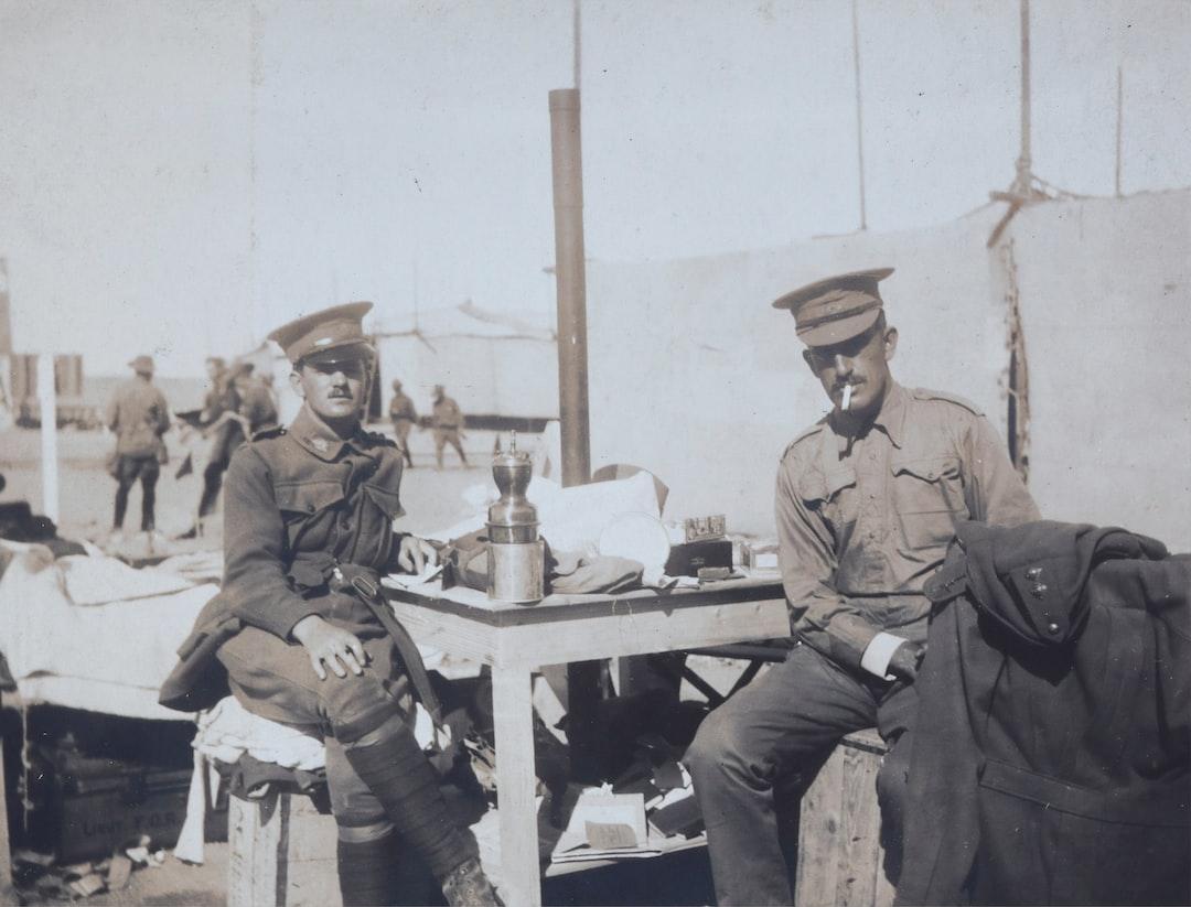 Lieut. Blick & Capt. McKenna, Egypt, Captain Edward Albert McKenna, World War I, 1914-1915