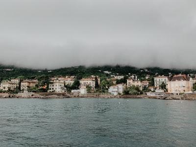 white buildings beside body of water