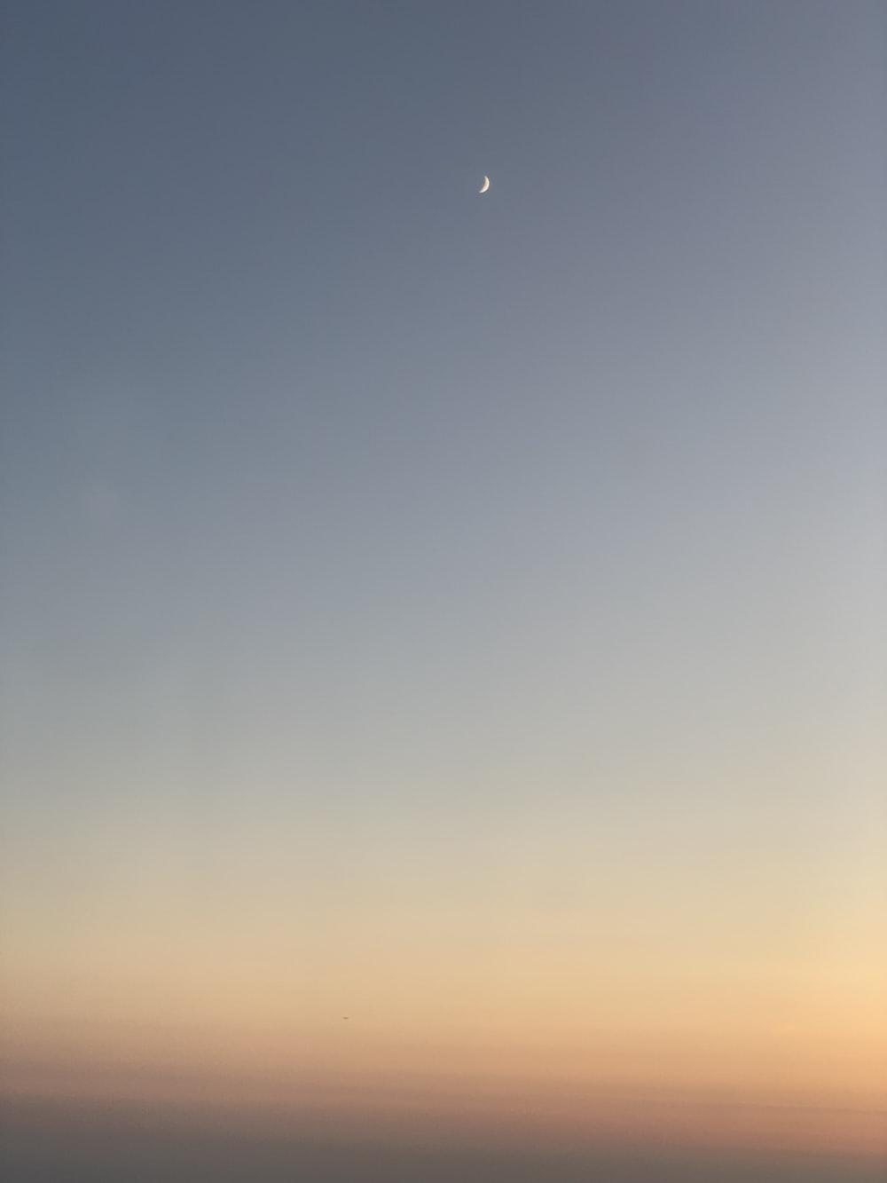 clear grey sky