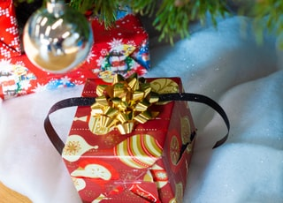 red and gold gift box