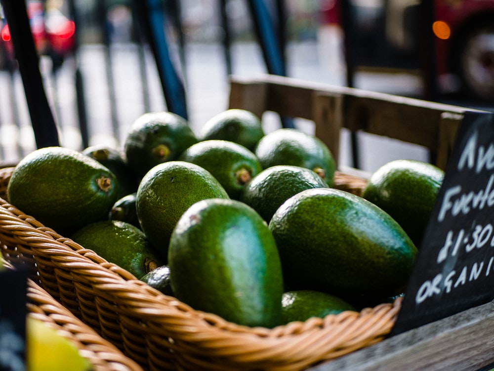 green avocadoes