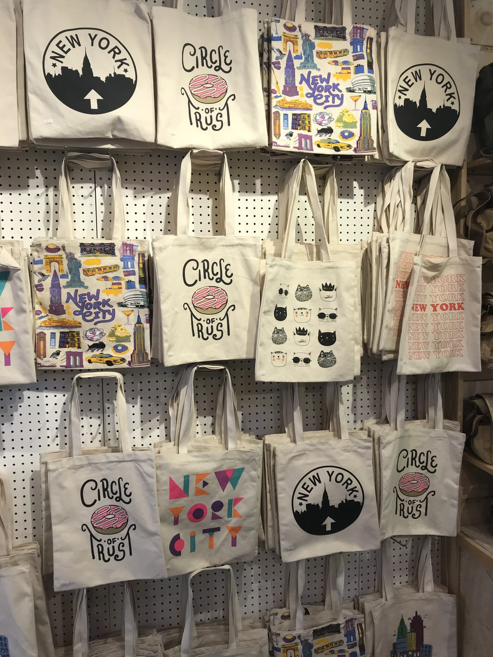 white tote bag lot
