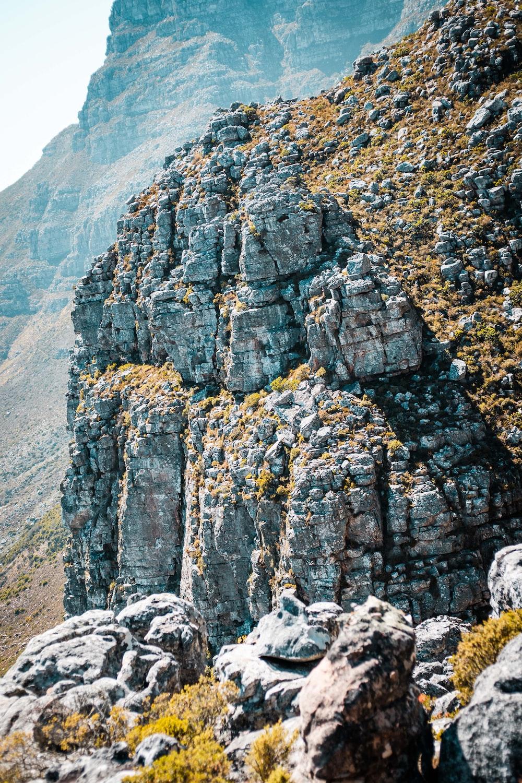 mountain cliff during daytime
