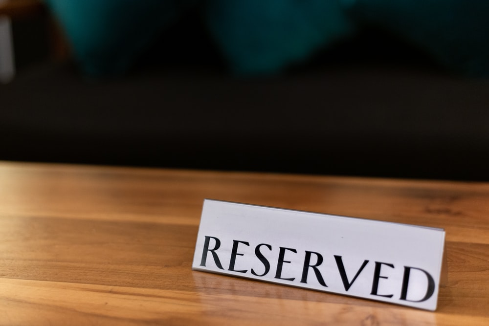 Reserved table decor