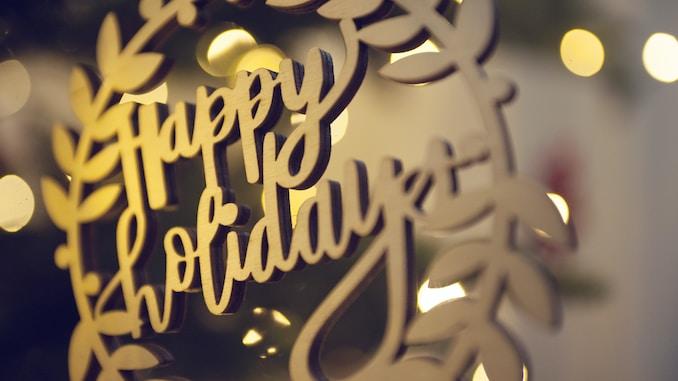 Happy Holiday signage
