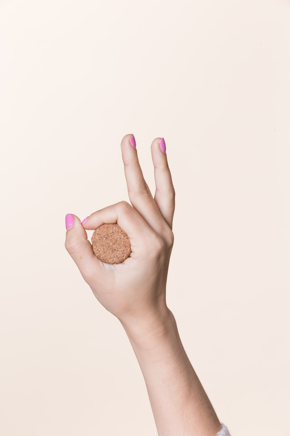 person holding cookie