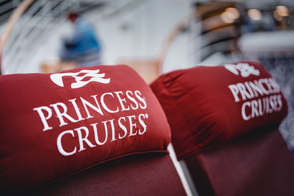 selective focus photography of Princess Cruise neck pillows