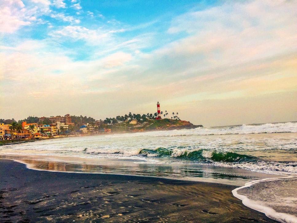 Serene and beautiful Kovalam beach