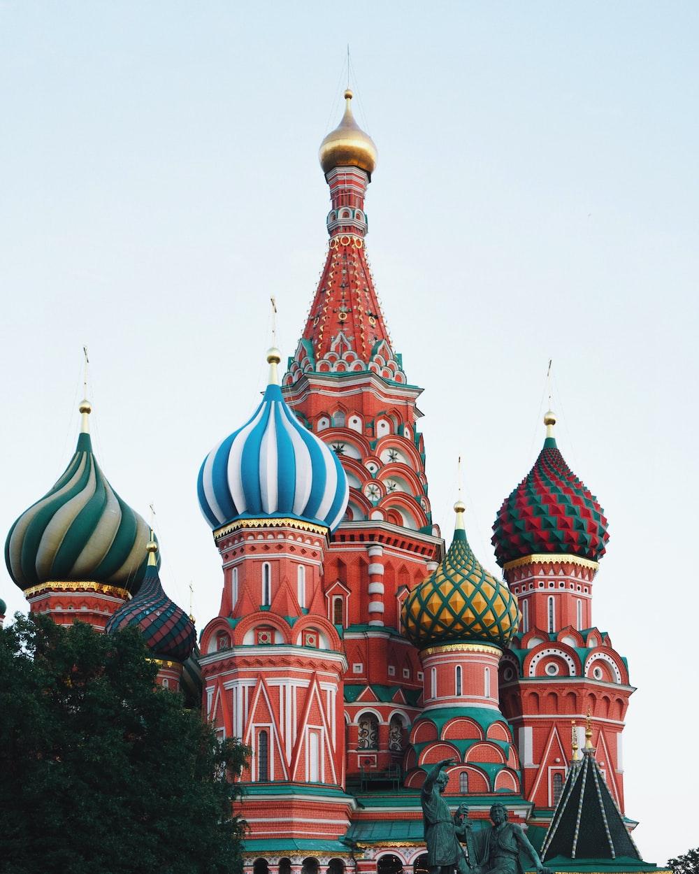 multicolored dome temple