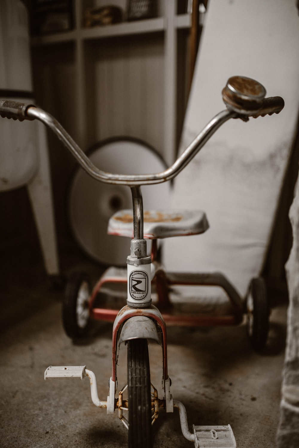 toddler's grey and red trike