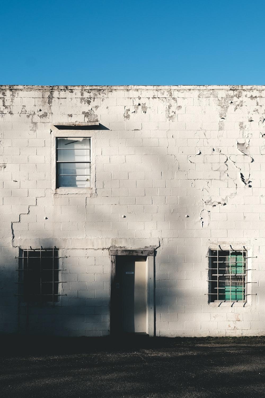 facade of white 2-storey building