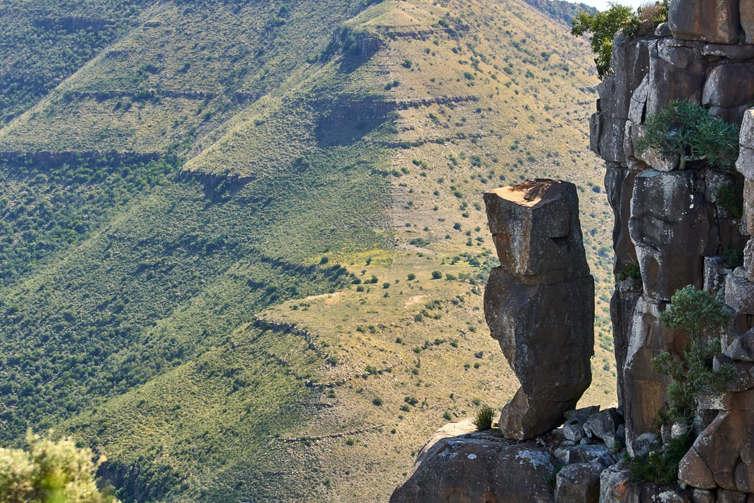 Don't know why this stone still stands  Valley of desolation South Africa close to Graaff Reinet