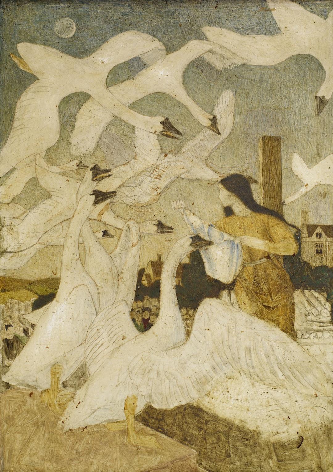 The Wild Swans (The Twelve Brothers Turned Into Swans), 1928 Arthur Joseph Gaskin