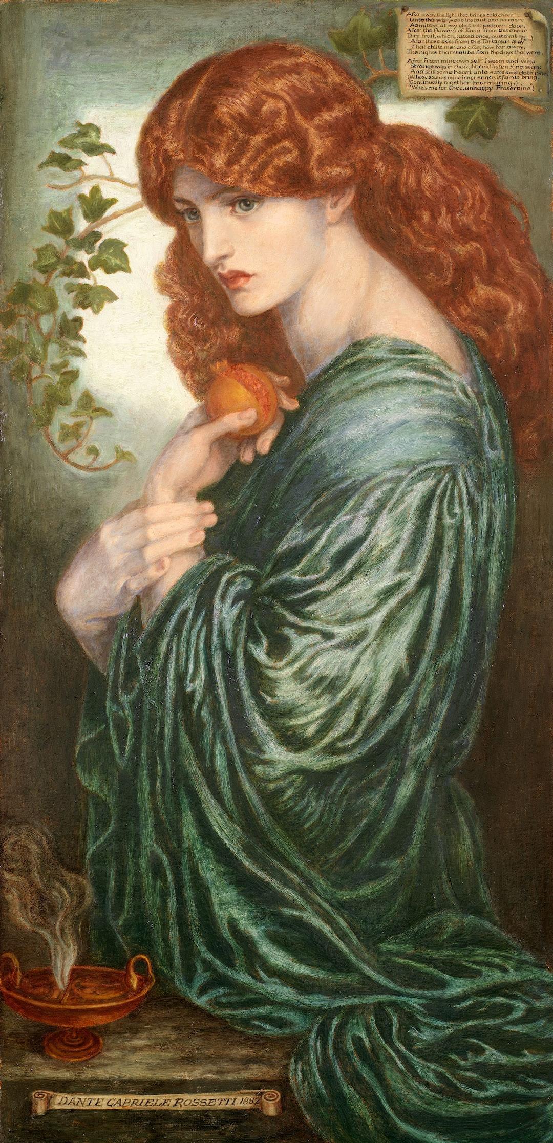 Proserpine, 1882. Artist: Dante Gabriel Rossetti