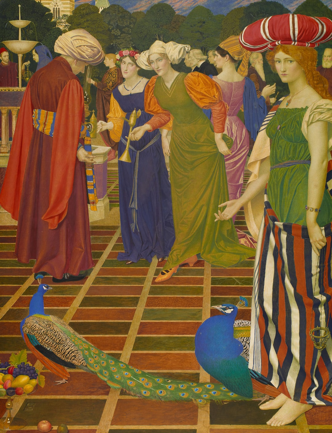 New Lamps for Old. Artist: Joseph Edward Southall. Gilder: Anna Elizabeth Southall. The subject is taken from story of Aladdin in the One Thousand and One Nights (The Arabian Nights)