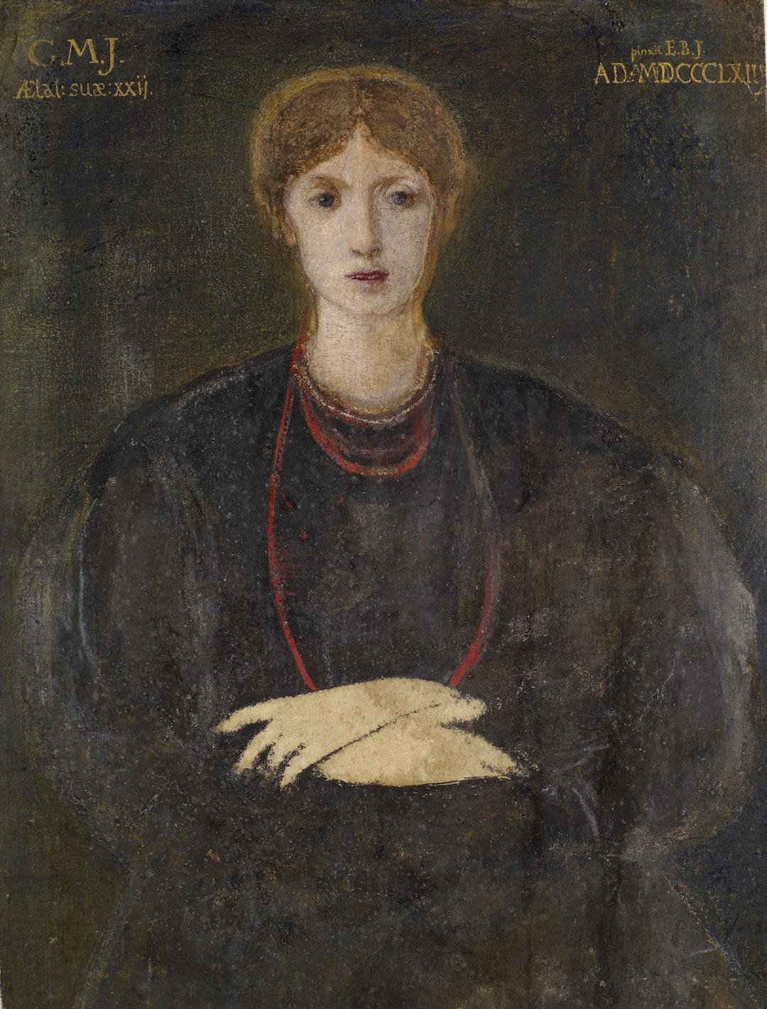Portrait of Georgiana Burne-Jones (1840-1920), 1863