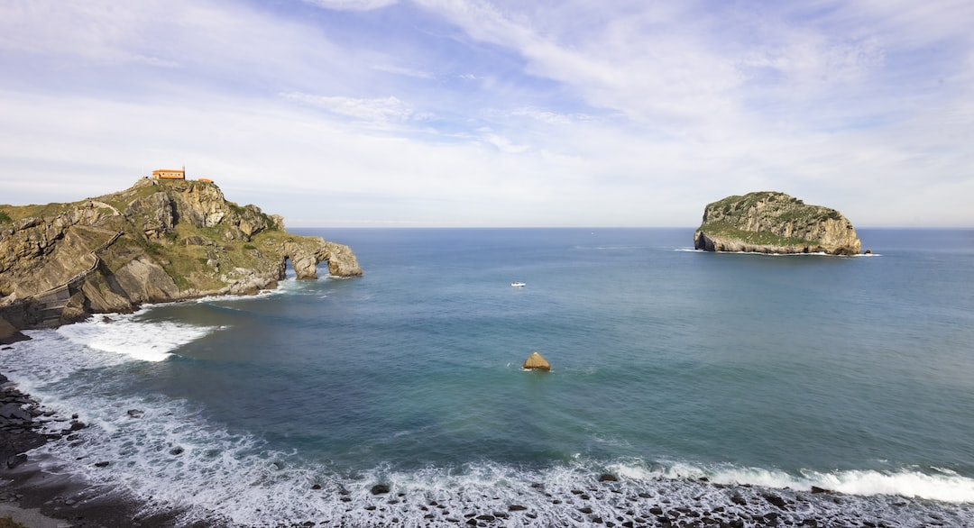 """Gaztelugatxe. Island fortress of """"Dragonstone"""" from season 7 of Game of Thrones. Basque Country."""