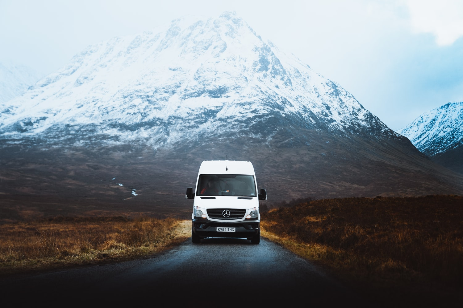 Mercedes Sprinter on a mountain road