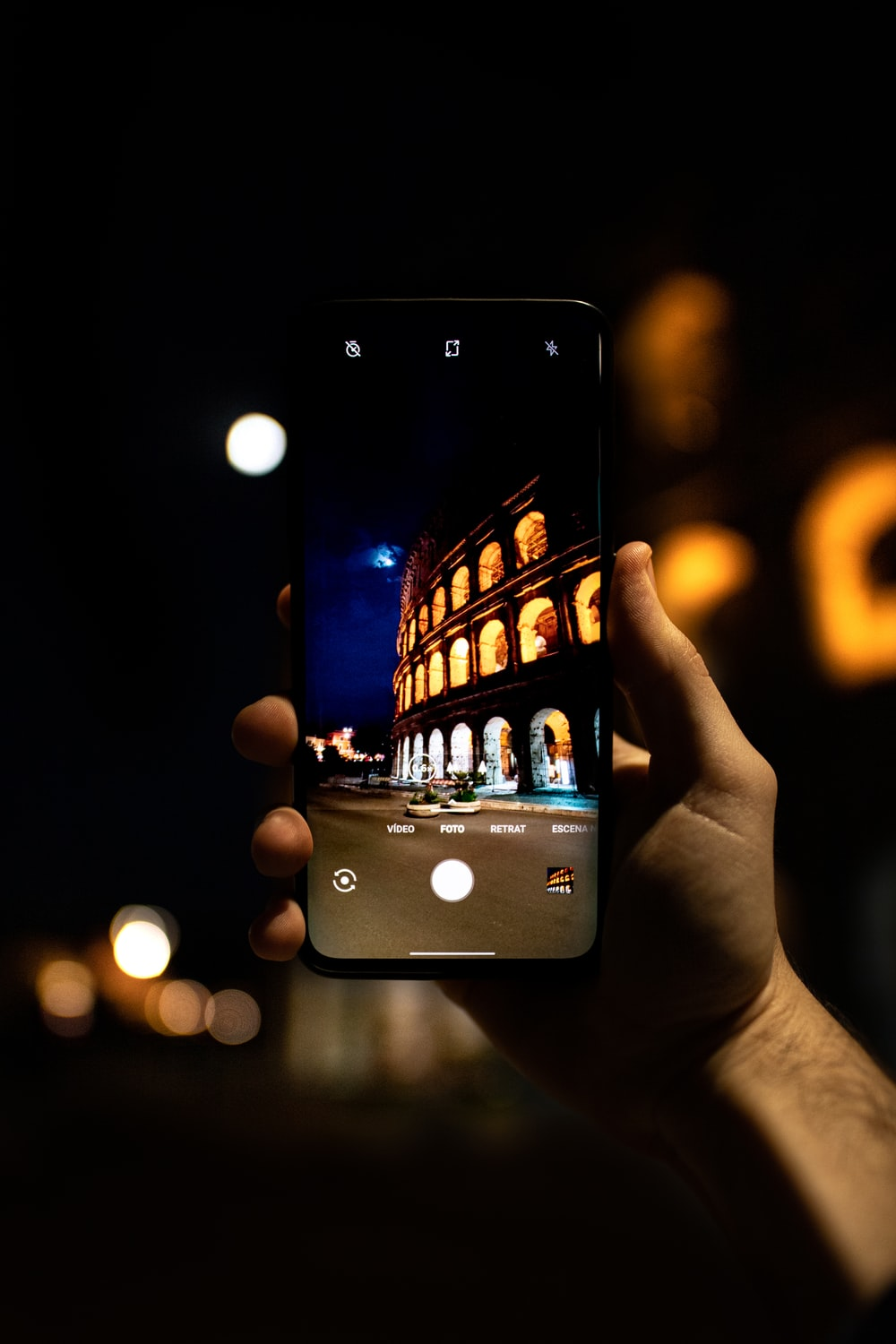 person holding Android smartphone