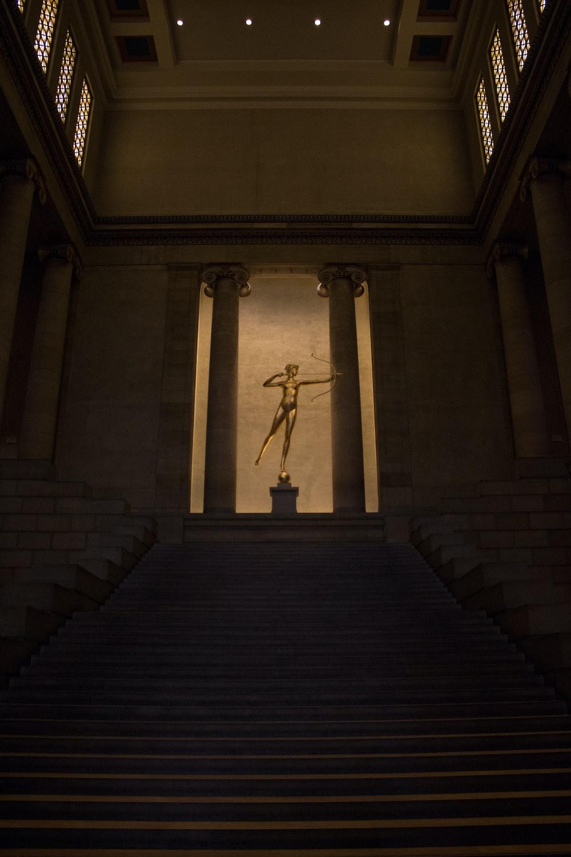 man statue inside building