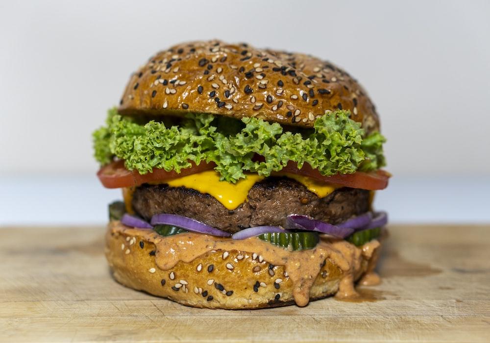 hamburger with patty