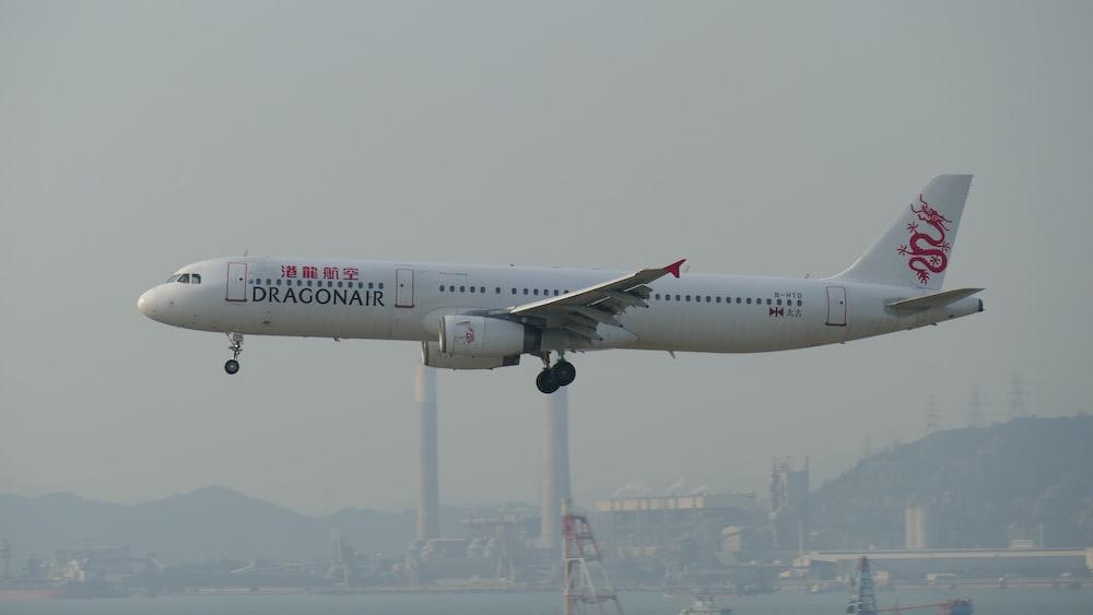 white Dragon Air airplane