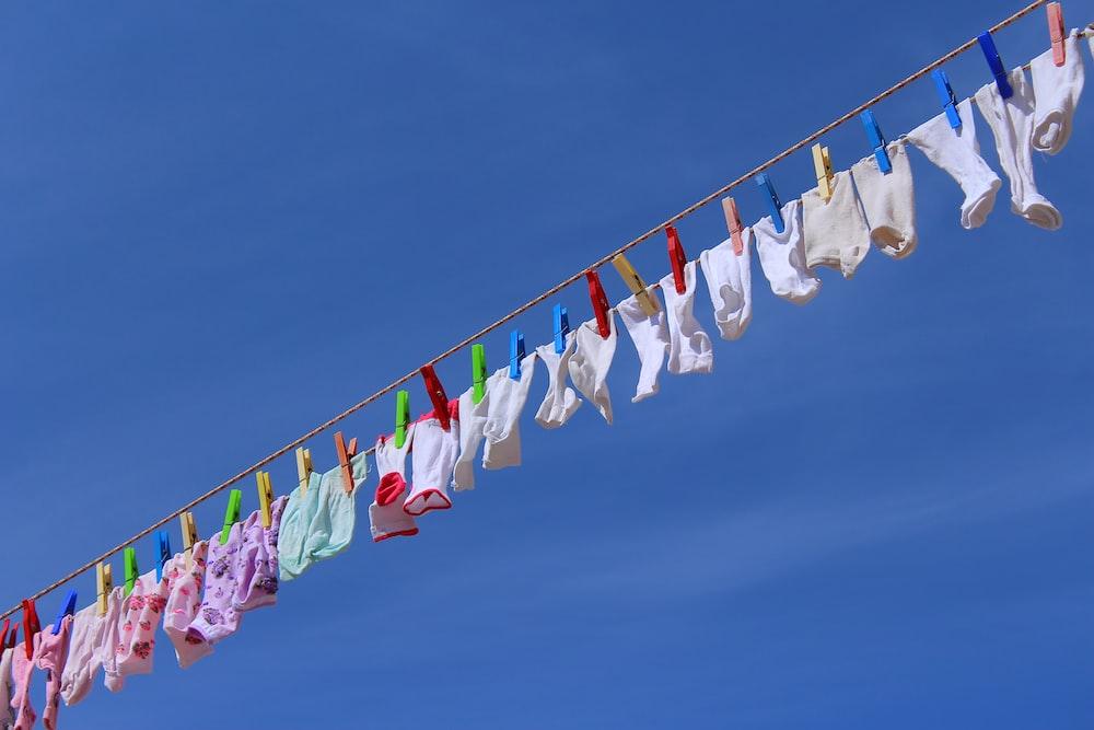 assorted-color socks lot
