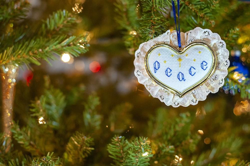 peace bauble ornament