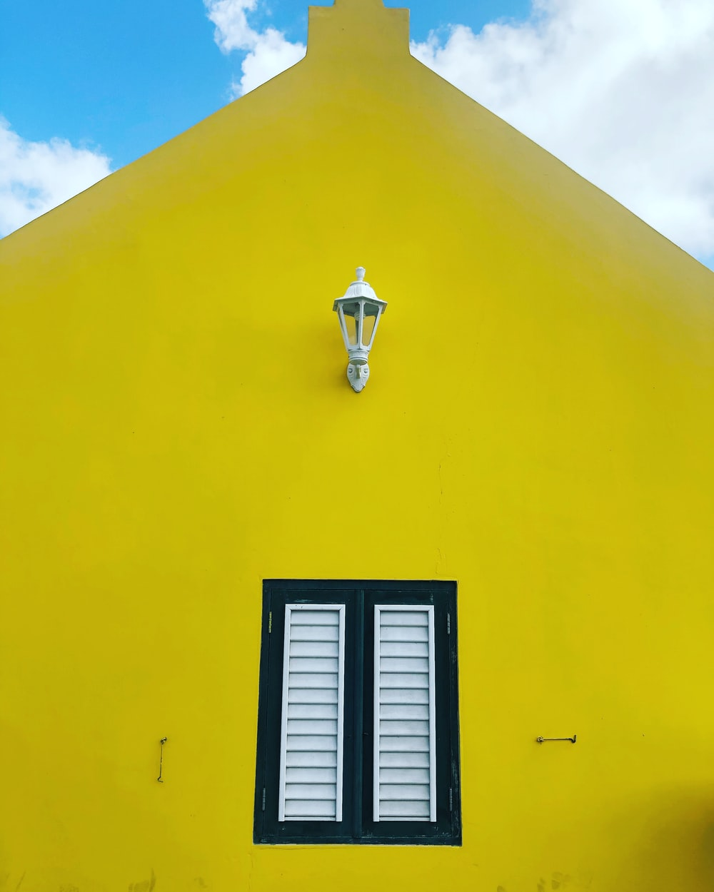 yellow painted house