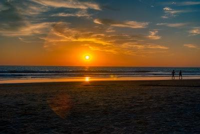 Sunset over the Atlantic Ocean. Cádiz, Spain.