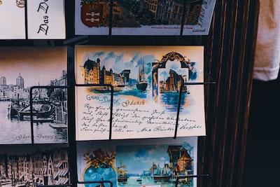 rack of postcards