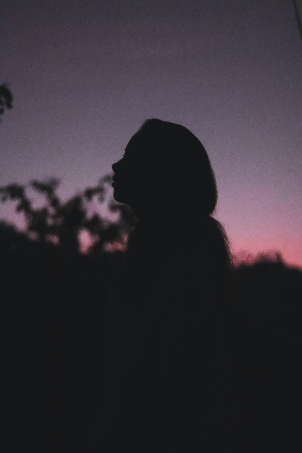 silhouette of person during golden hour