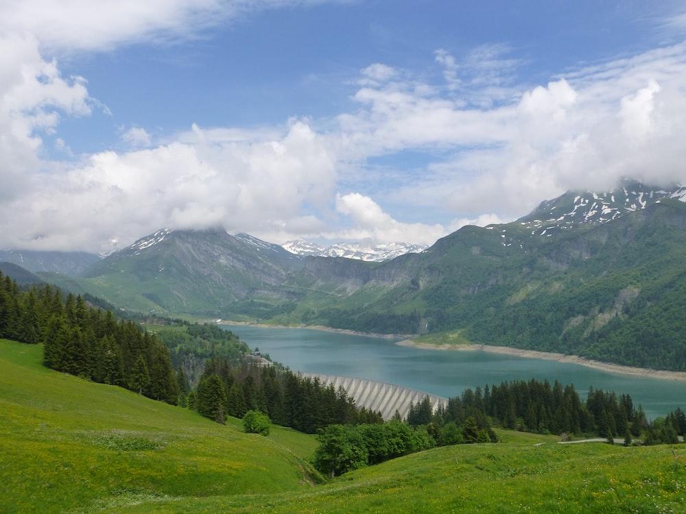 wide angle photo of lake