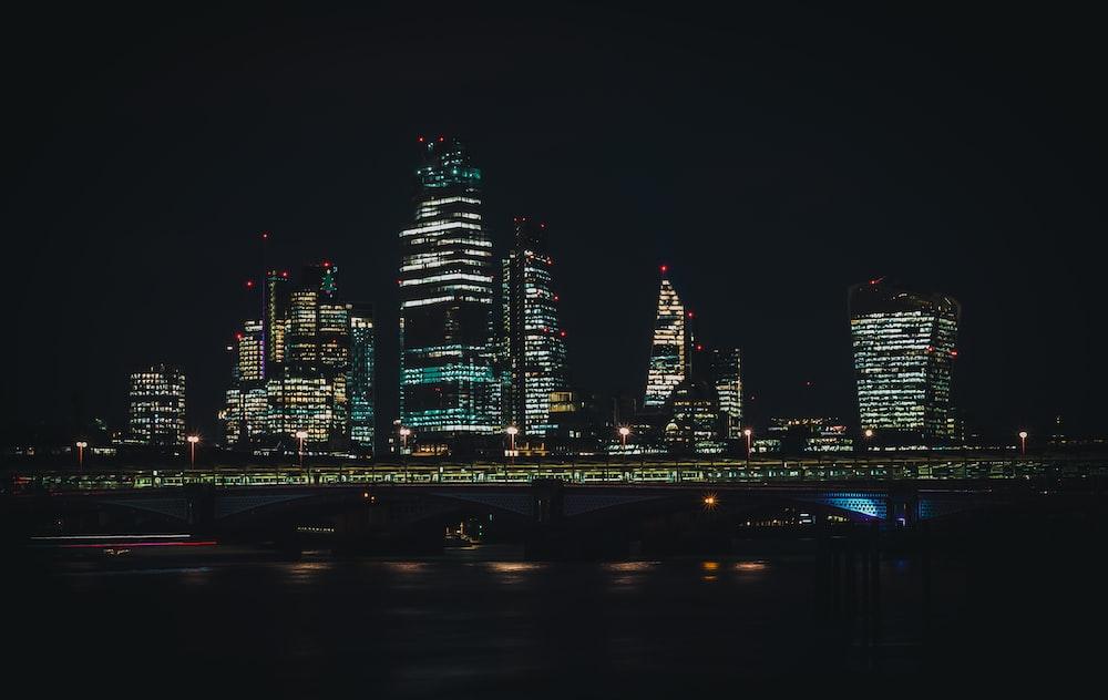 wide angle photo of city