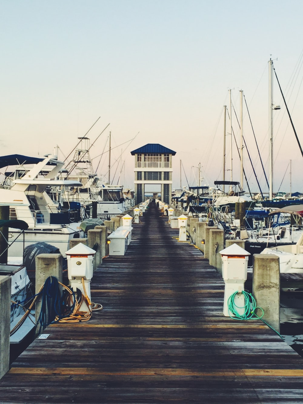 brown wooden seadock