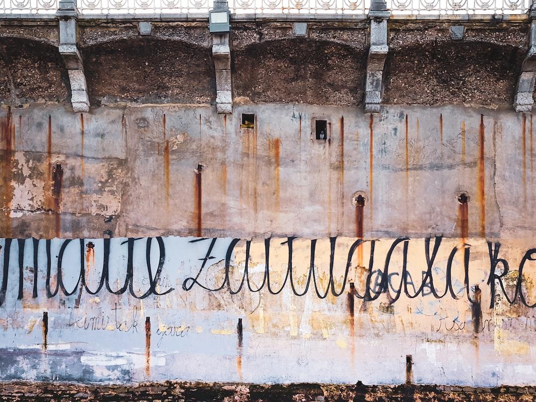 Graffiti at Donostia-San Sebastian beach, Basque Autonomous Community, Spain.