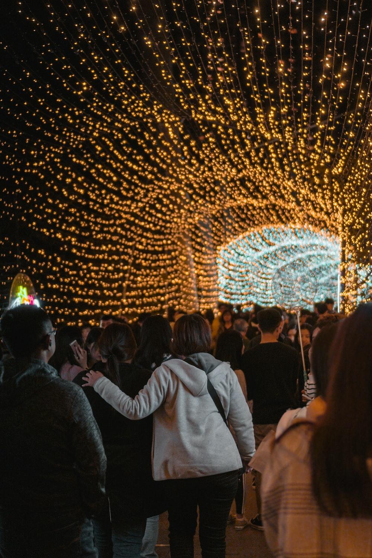 string light tunnel