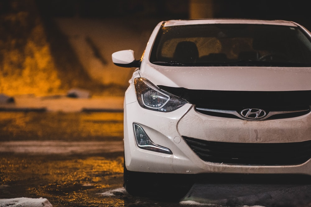 white Hyundai car