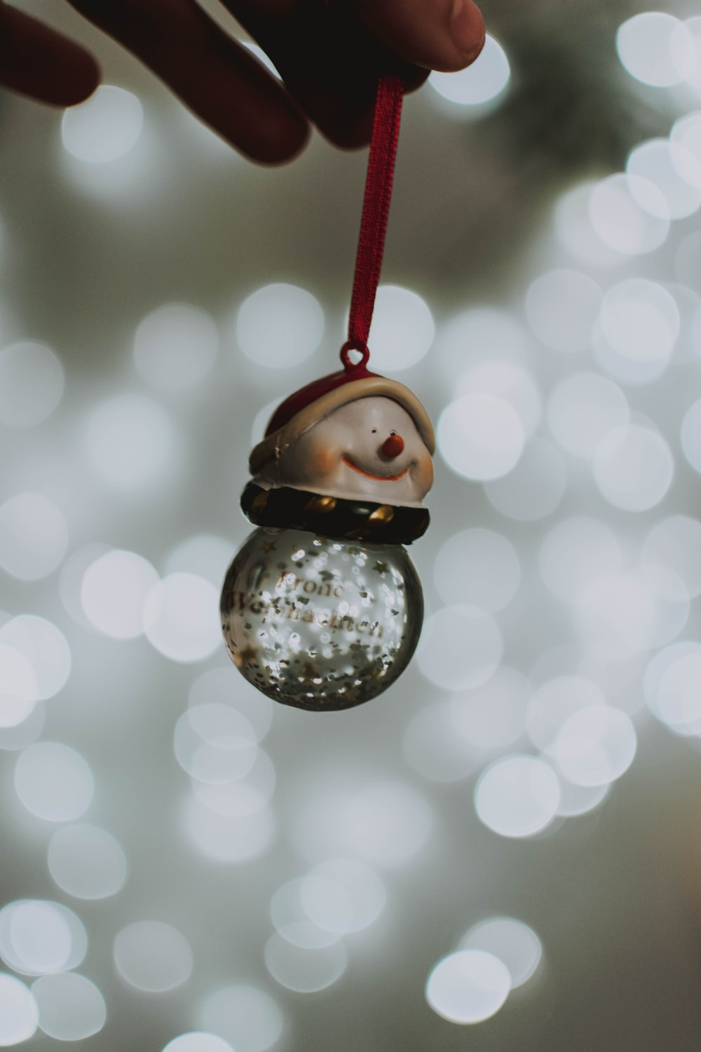 snowman lighted bauble