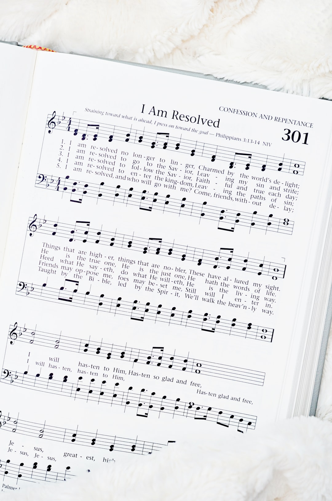 Church Hymn I am Resolved.  New Years Resolutions!