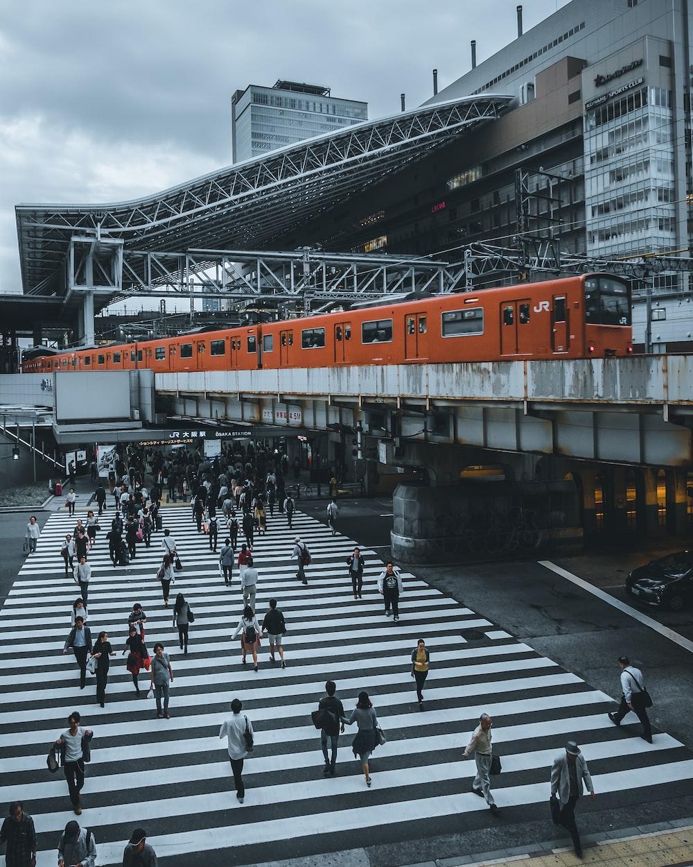 orange train photograph