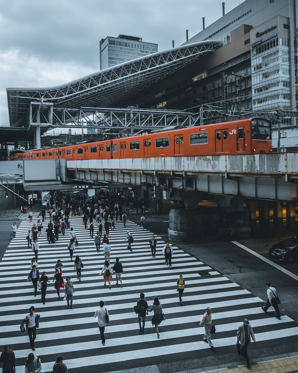 orange train photograph