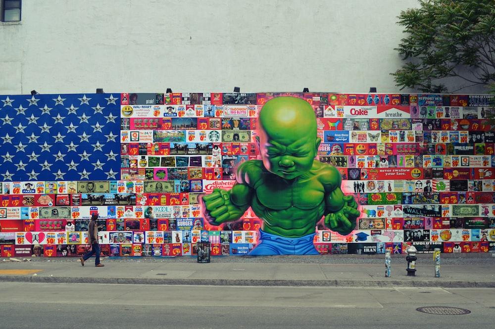 hulk graffiti