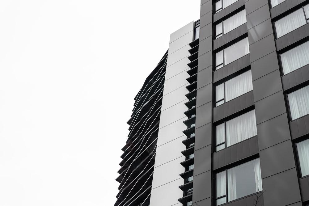 grey and black concrete building
