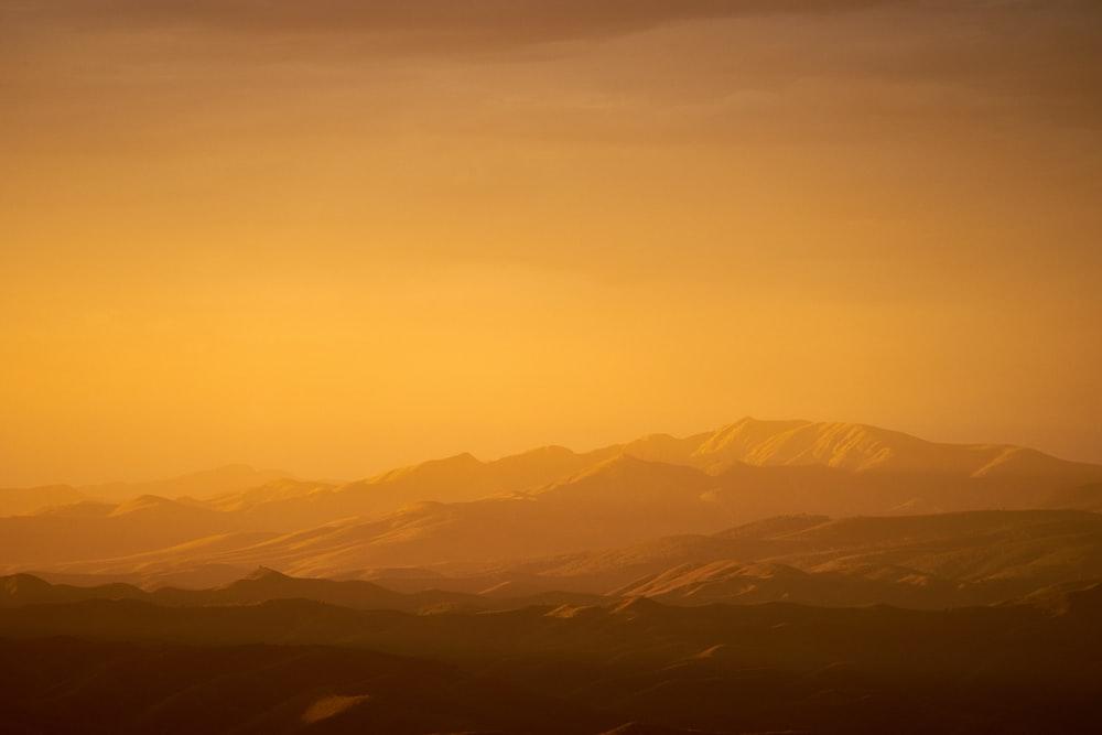 sepia photography of mountain